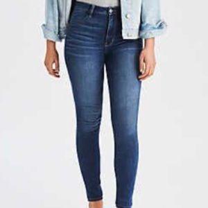 American Eagle Indigo Wash Skinny Jeans